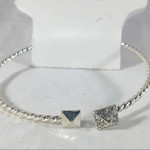 Jewelry - Silver Bracelet With Rhinestones